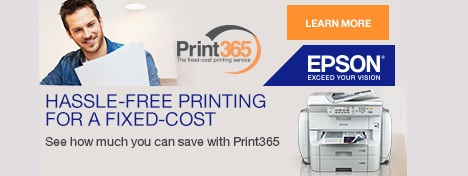 Epson Print365 - Print as much as you like, hassle-free with no hidden costs